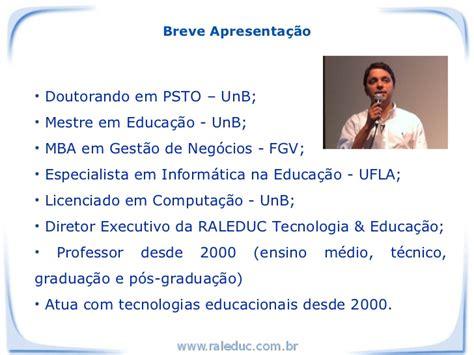 Unb Mba by Palestra Sobre Aspectos Da Educa 231 227 O E Da Ead Para O Tst