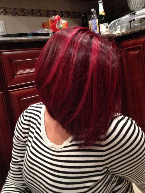 long red bob 17 best images about red highlights on pinterest red