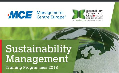 Mba In Sustainability Europe by Mce For Professionals Sumas