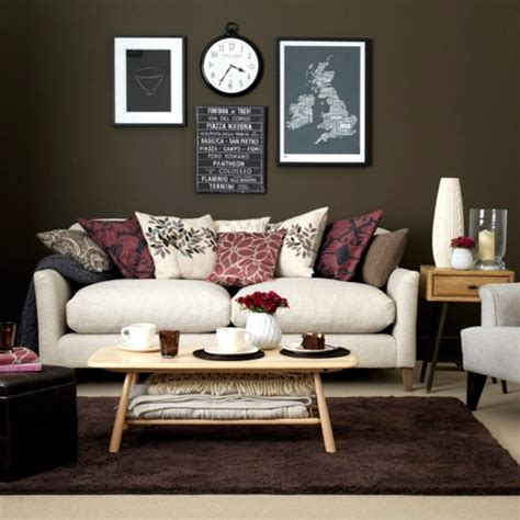 Warm Brown Living Room by Color Earth Colors In Brown Living Room
