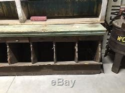 Antique 1900's Country General Store Wall Cabinet Counter