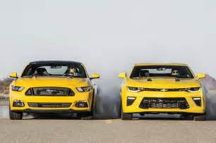 2016 chevy camaro ford mustang comparo test gm authority