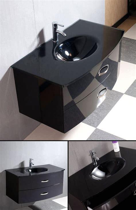 Gloss Black Bathroom Furniture Black Bathroom Furniture Black Wall Hung Basin Cabinets