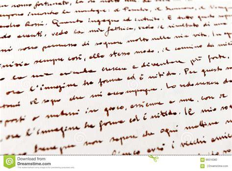 italian writing paper background handwritten italian text stock photo image