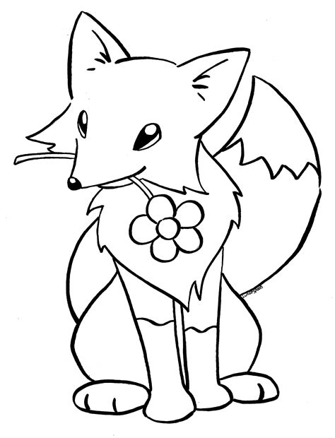 christmas fox coloring page cute baby fox coloring pages coloring home