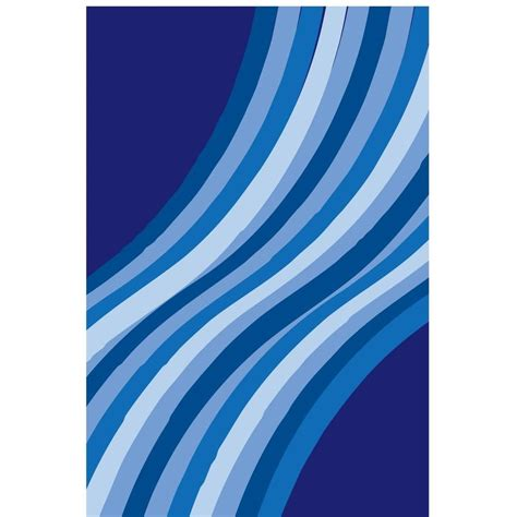 Blue Wave Rug by La Rug Time Wacky Blue Wave Multi Colored 1 Ft 7 In