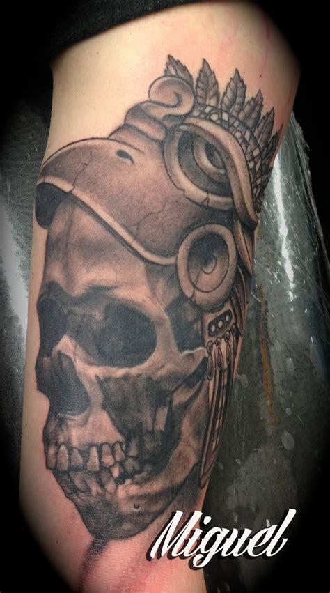 aztec skull tattoo aztec skull tattoos www imgkid the image kid has it