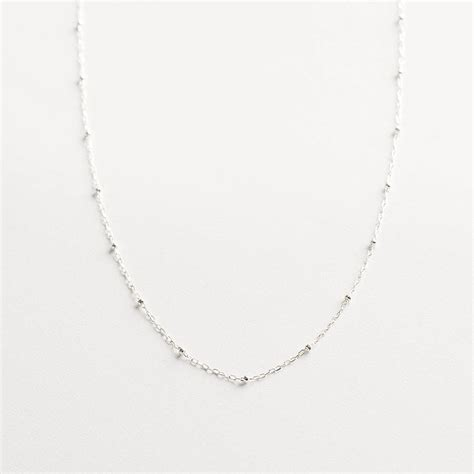 sterling silver chain for jewelry delicate sterling silver chain necklace by minetta