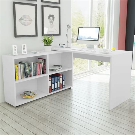 corner computer desk with shelves vidaxl co uk vidaxl corner desk 4 shelves white