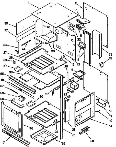 kitchenaid refrigerator wiring diagram diagram external oven parts kitchen stove wiring diagram