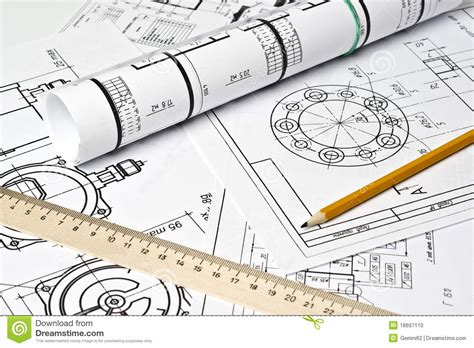 graphics design engineer the engineering drawing stock photo image 18697110