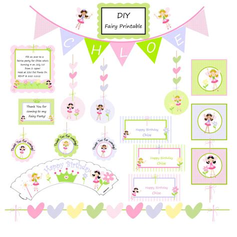 printable fairy party decorations 8 best images of diy birthday party free printables free