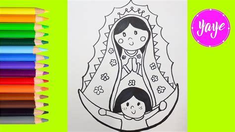 imagenes para dibujar a la virgen de guadalupe 42 virgen de guadalupe dibujo rosa de guadalupe