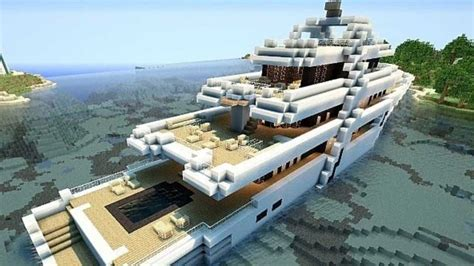 minecraft yot boat minecraft top 5 des plus beaux yachts youtube