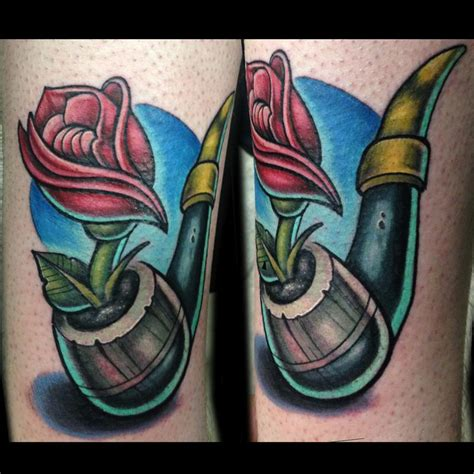 rose tattoos in color color pipe by adam aguas tattoonow