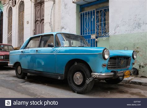 peugeot cuba an old peugeot car in old havana cuba stock photo
