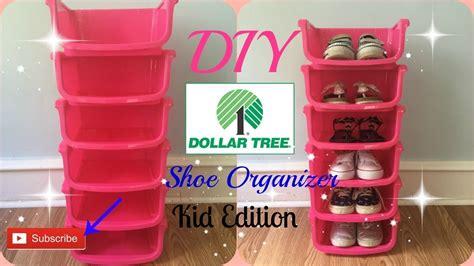 dollar store shoe organizer diy dollar tree shoe organizer kids edition youtube
