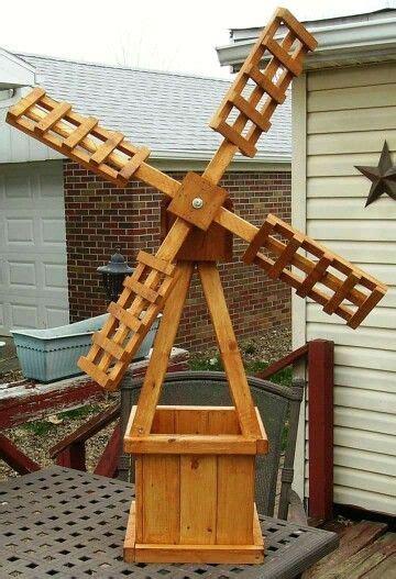 windmill planter wooden diy projects   windmill
