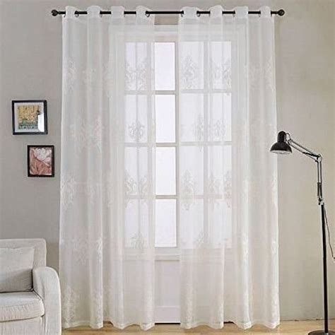 cortinas para salon moderno modernas cortinas sal 243 n blancas con bordados cortinas de