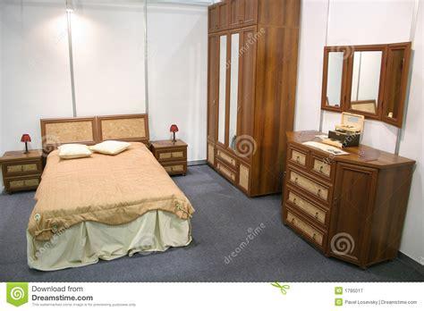 chambre 224 coucher en bois photographie stock libre de
