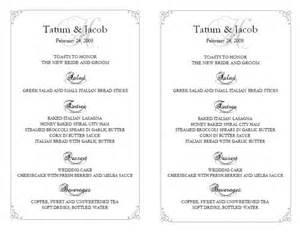 free wedding menu templates for microsoft word wedding menu template wedding menu template 5