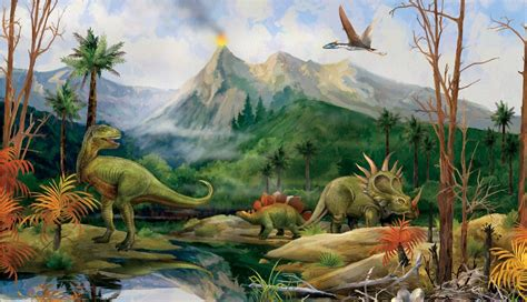 dinosaurs murals walls dinosaur wall mural