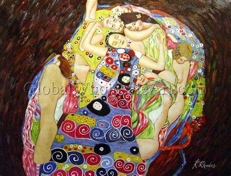 oil paintings global wholesale art gustav klimt death and life oil paintings on canvas