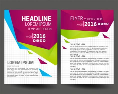 templates flyers cdr annual report flyer set with modern style background