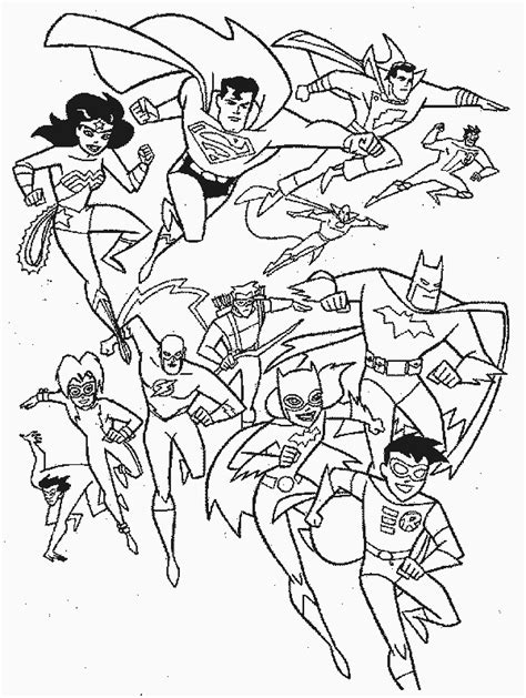 Superhero Squad Coloring Pages 012 Heroes Color Pages