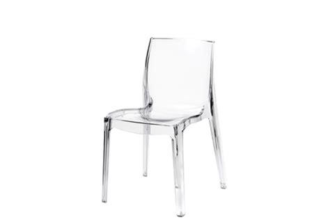 chaise de cuisine transparente chaise ekivok transparent