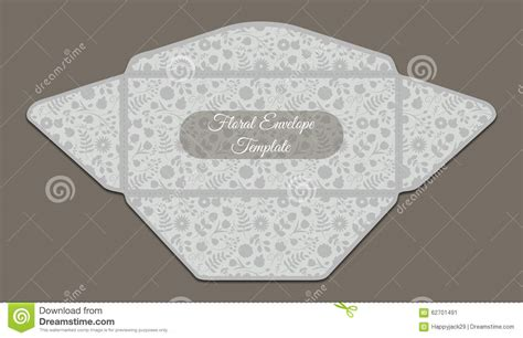 envelope pattern inside envelope template with floral pattern stock vector image