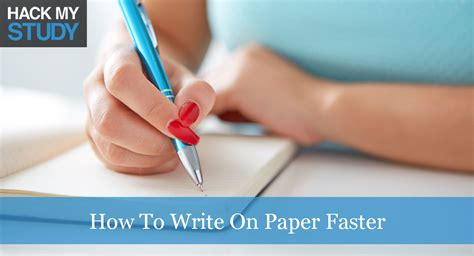 How To Write Essays Faster by Writing And Editing Services Best Writing Paper For Pen