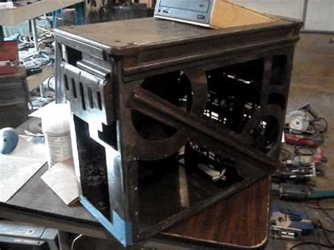 Computer Desk Mod Orange Attack Project Custom Pc Case Mod Youtube