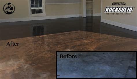 rock solid metallic garage floor