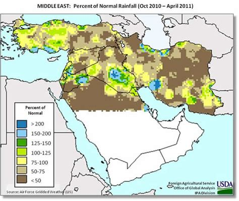 middle east rainfall map middleeast wheat may2011