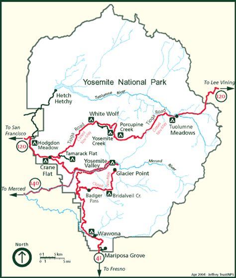 map yosemite california america s national parks 美国国家公园 yosemite national park maps