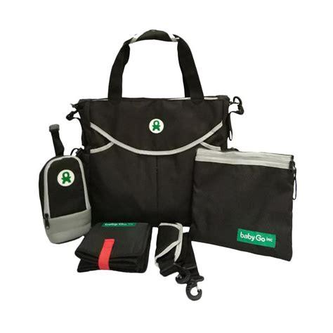 Babygo Inc 3 In 1 Baby Bag jual murah babygo inc 3in1 bag black popok di jakarta