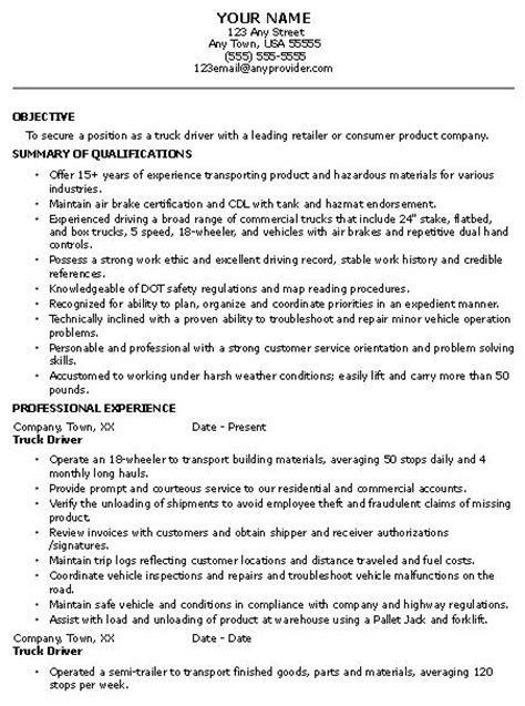 free resume sles truck drivers truck driver resume templates free sle and tips genius 1 for