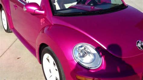 pink volkswagen beetle for sale 2010 volkswagen beetle convertible barbie cruiser replica