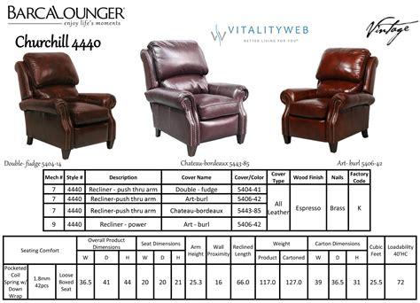reclining chair dimensions barcalounger churchill ii recliner chair leather