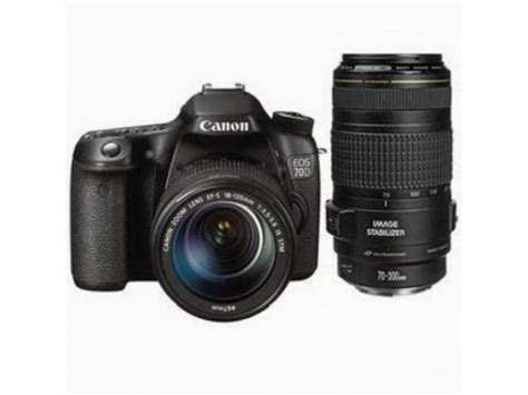 Kamera Canon Eos 70d Kit 18 135mm canon eos 70d dslr kit with 18 135mm and 70 300mm