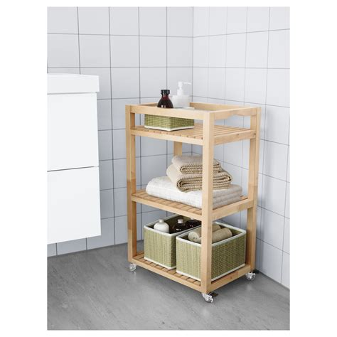 badezimmer regal molger molger trolley birch 33x47x76 cm ikea