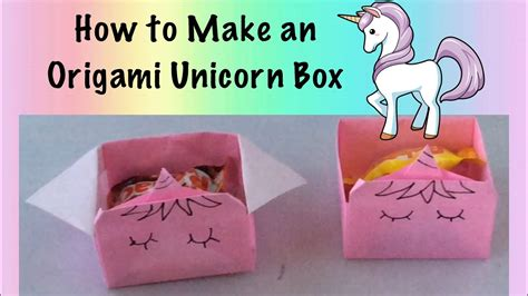 How To Make An Origami Unicorn - how to make an origami unicorn box