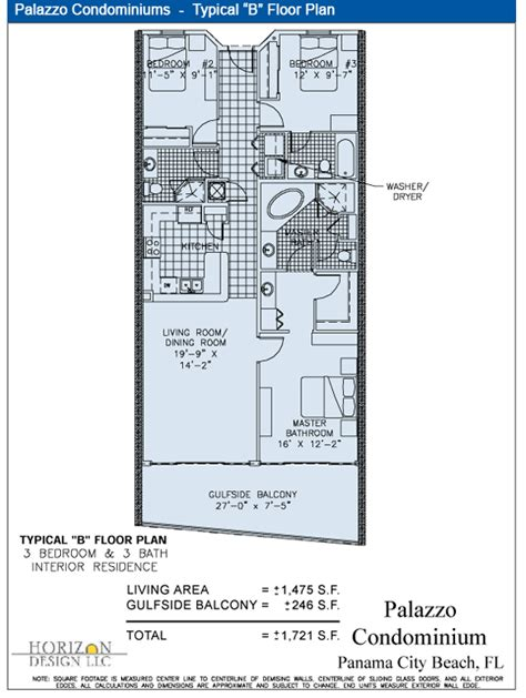 design blueprint palazzo condominiums typical quot b quot floor plan