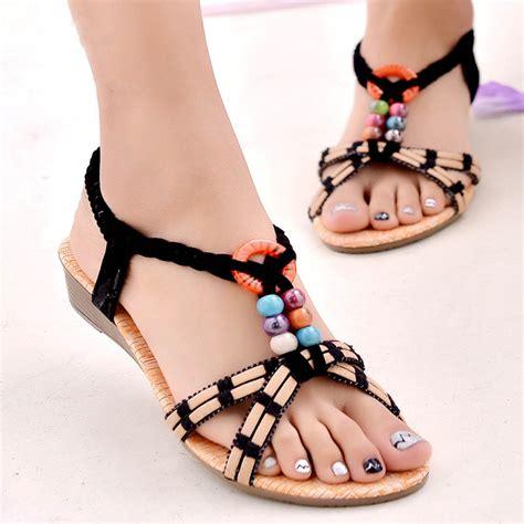 Promo Sandal Wanita Wedges Slop summer fashion sandal shoes wedges heel brief herringbone flip flop sandals bohemia