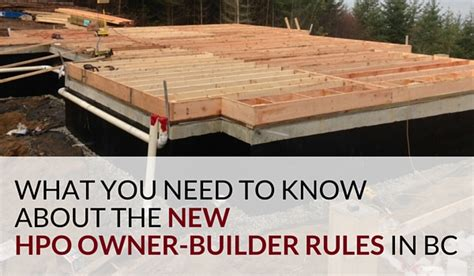 building codes what you need to know is exteriors by the new hpo owner builder rules in british columbiatamlin