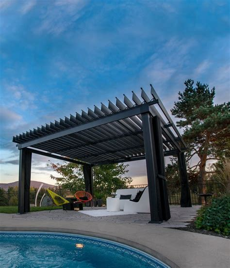 Design Ideas For Hton Bay Pergola Steel Pergola With Canopy 28 Images Hton Bay 9 Ft X 9 Ft Steel And Aluminum Arched Pergola