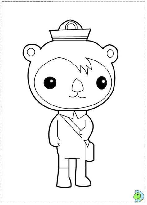 octonauts coloring pages octonauts coloring page dinokids org