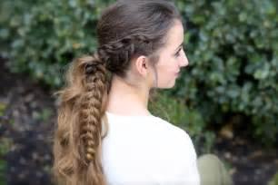 Viking braid ponytail cute girls hairstyles