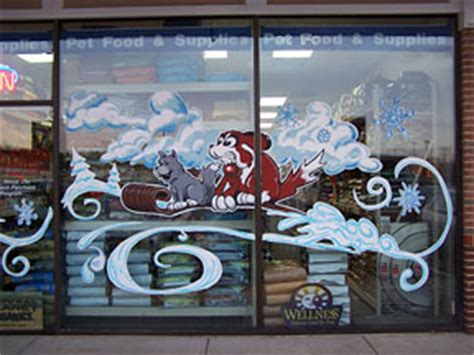 gnarly artly window painting